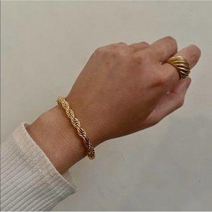 Chunky Rope Bracelet in Gold